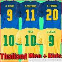 2021 Brasil Camiseta de Futbol Paquete Neres COUTINHO Camisa de Fútbol Top Firmino Jesús Jerseys de fútbol Marcelo Pele Brasil 20 21 Maillot de