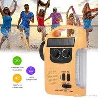 RD339 Radio Solar Energy Radio Mobile Téléphone Chargeur FM AM AM W / LED Lampe de poche Lampe d'urgence Siren Alerte pour Activité extérieure