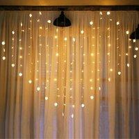 Cuerdas LED Forma de corazón Luces de cortina 8 Modos Impermeable Twinkle String Decoración para el hogar Wedding Valentine TV Fondo de pared