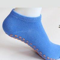 تعزيز الرياضة الجوارب المضادة للانزلاق توسيد ضمادة بيلاتيس الباليه قبضة جيدة للأطفال والنساء القطن جورب الترامبولين