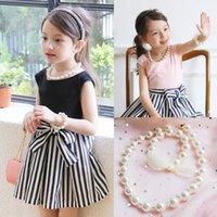 Vieeoaase Girls Collana Gioielli 2021 Vintage Fashion Bead Pearl Brow Bracelet Bambini regalo per bambini Accessori per feste EE-657