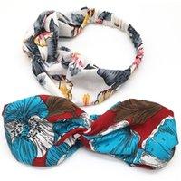 Luxe célèbre Somptueux 100% Silk Cross Cross Bandeau Femme Girl Elastic Bands De Cheveux Écharpe Retroturban Headraps Cadeaux Cadeaux Fleurs Colibri Orchid