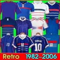 Soccermen10 Zidane 1998 프랑스 레트로 빈티지 Zidane Henry Maillot de Foot 1982 84 86 1996 2006 2000 2002 2004 유로 결승 1984 축구 유니폼