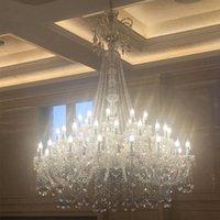 cristalli di vetro per lampadari soggiorno hotel grande lampadario a doppio strato lampadario K9 luci di cristallo Lampadario di lusso luci di cristallo 110-240V