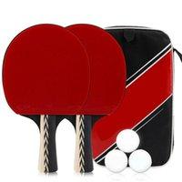 Настольный теннис Raquets P401 Professional Set Professial Portable Double Face - в длинную или короткую ручку летучей мышкой с 3 мячами