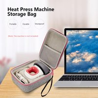 Storage Bag For Cricut Easy Press Portable Heat Machine Waterproof Shockproof Case Fashion Grey+Pink Laptop Cases & Backpack