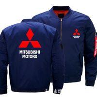 Men's Jackets Autumn Winter Flight Jacket Mitsubishi Motors Coat Mens Womens Warm Casual Zipper Baseball Z