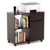 Mobile furnitures printer rack with storage table wheels convenient and flexible wooden desk drawer family office furniture cabinet