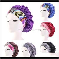 Shower Caps Women Satin Night Beauty Salon Sleep Cover Bonnet Hat Silk Head Wide Elastic Band For Curly Springy Hair Chemo Cap Uddgx 0F4Pr