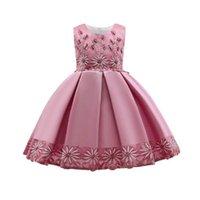 Girls Dresses Children Clothing Kids Clothes Wedding Summer Princess Dress Birthday Party Wear Festival Flower B8539
