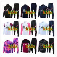 2021 2022 Kids Paris Chandal Futbol Tracksuit Mbappe Treinamento Terno 21/22 Futebol Jerseys Kit Futebol Crianç