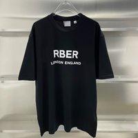 21SS воротник классический Лондон Англия буква логотип печати футболка с коротким рукавом повседневная простая простая летняя улица тройник
