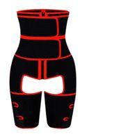 Women Waist Trainer body shaper Double Compression 3-in-1 Shaping Butt Lifter Sweat Slimming Adjustable waistband Thigh high-waist abdomen legging belt