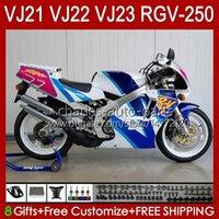 Lichaam voor Suzuki RGV-250 RGVT RGV 250CC 250 cc 1990 1991 1992 1993 94 95 96 20HC.190 Fabrieksblauw RGV250 SAPC VJ22 RVG250 Panel RGVT-250 90 91 92 93 1994 1995 1996 Kuip