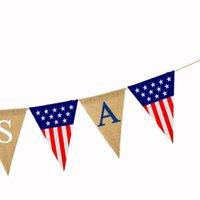 USA Swallowtail Banner Independence Day String Flaggen Buchstaben Bunting Banner 4. von Juli Party Dekoration HHC7583