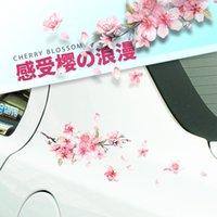 Автомобильные наклейки Вишневый Blossom Личность Креативная дверь окклюзия царапины Бампер Лампа Бровей Декоративные принадлежности Потяните цветы