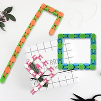 Fidget Snake Puzzle Wacky Tracks Snap and Click Sensory Toys Kids Adult Anxiety Stress Relief ADHD Needs Educational Party Keeps Fingers