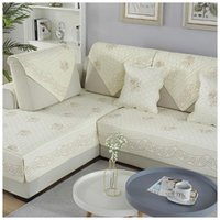 Chair Covers Lychee Embroidered Sofa Seat Cover Cotton Pets Cats Recliner Slipcover Furniture Protector Couch