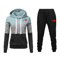 Two Piece Dress 2021 Women Tracksuits Printed Hoodie Sets Casual Sweatshirts Pants Sports Suit Woman 2 Peice Clothes