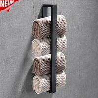 Porte-serviettes 40cm Salle de bain en acier inoxydable Rodage Facecloth Support Auto-adhésif Home Cuisine Fournitures