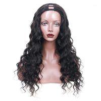 Brazilian Loose Wave U Part Wig 250 Density 100% Human Hair Wigs For Black Women Glueless Virgin Upart Nature Color1