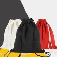 Pcs Lot Canvas Drawstring Bag String Backpack Gym Cinch Sport Pack For Mens Womens Art Craft Gift Wrap
