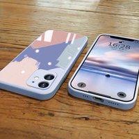 Cell Phone Cases Capa celular de vidro temperado, amortecedora para for iphone 7 8 plus x xr 11 12 pro max