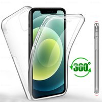 360 Full Clear Silicone Cases For Iphone 13 12 11 pro X XR Xs max 6 7 8 plus Se mini Shockproof Transparent Case