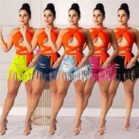 Mulheres Designer Denim Shorts Jean Calças Sexy Moda Tassel Womens Shorts Skinny Short Jean calças de jeans reto KLW1071
