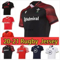 Beste Qualität 2020/21 Wales Schottland Home Away Rugby-Trikots 19 20 21 National Rugby League World Cup Wales Scottish Rugby-Hemd Größe S-XXXL-Factory Outlet