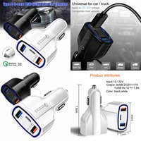 35W Quick charge 3.0 Car charger 5V 3.5A QC3.0 PD usb type c fast charging Dual mobile phone automobile replenisher for iPhone 11 samsung