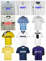 Klinsmann 1990 1998 1991 1982 Tottenham Retro Futbol Formaları Gascoigne Anderton Sheringham Ginola Ferdinand Centenary Jersey Üniformaları