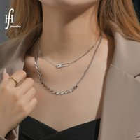 Ins Hip Hop Creative Double Layer Love Clavicle Chain Pin Splicing Hollow Out Peach Heart Necklace Niche Design Female 2RE357
