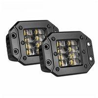 Quad-Reihe 4,5-Zoll-Quadrat-Seitenlampe 24W Unterputz-LED-Arbeitslicht-Hülsen, die abseits der Straße 4wd-Lkw-Auto fahren