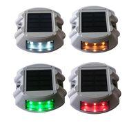 잔디 램프 캐스트 알루미늄 스파이크 LED 태양 전원 드라이브 웨이 빛 IP68 방수 야외 도로 스터드 드라이브 웨이 조명 크레딧