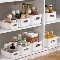 Caixa de Armazenamento Sundry Desktop Plastic Square Storages Cesto Caseiro Finalizando Cosméticos Lanches