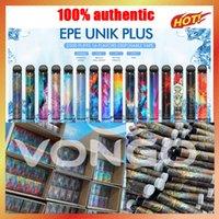 100% Аутентичные EPE UNIK PLUS Одноразовые E-Cigarettes 2500 ударов Vape Pod Device 1600MAH 9.5 мл Картридж Аккумуляторный испаритель с кодом аутентификации