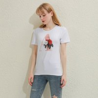 Kadın Tişört Yaz Moda Tişörtleri Yüksek Kaliteli Mektup Baskı Çiçek Mektuplar Yazı Tipi A B C D E F G Kısa Kollu Bayanlar Tops