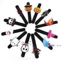 Halloween Slap Bransoletka Party Decoration Bat Pumpkin Ghost Shape Series Clap Plush Pat Ręcznie Koło Zabawki Bransoletka Dla Dzieci FWA8488