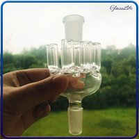 Smoking Hookah Glass Ash Catcher 14mm Joint 8 Arms Tree Percolator Bong for Dab Rig Water Pipes Accessory Tool