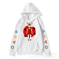 S-3XL Plus Size Squid game fleece hoodies hooded jacket autumn winter tops loose pullover cartoon blouses coat cartoon hoodie sportswear tracksuit clothes G0072NK