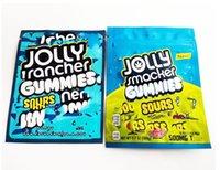 2021h Jolly Rancher Gummies Gummies Sapori acidi Mylar Zipper Borsa con lacrime da 600 mg Borsa da imballaggio in plastica POVORE Odore