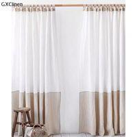 Занавес Drapes Tab Верхние льняные завесы в двух цветах панель спальни белый натуральный органический фермерский дом