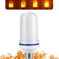 LED-Flammeneffekt Glühlampe 4 Modi Lampen E14 E12 E27 E26 Basenfeuer mit Schwerkraftsensor Valentinstag-Dekorationen flackern für Innen- und Outdoor Crestech