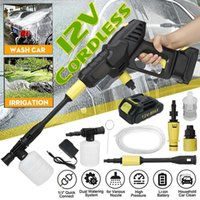 12 24V Cordless Portable Car Washer High Pressure Cleaner Washing Machine Garden Home Cleaning Tools With Lithium Battery