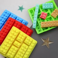 Baking Moulds 3D Silicon Chocolate Jelly Candy Mold Different Styles Of Children Puzzle Building Block DIY Cake Ice Mould Pastry Bar Mini CubeTray Molds Tool Gift