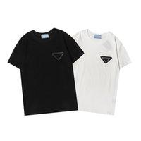 디자이너 Womens T 셔츠 여성 패션 셔츠 편지 기하학적 인쇄 티셔츠 여름 통기성 반바지 소매 탑스 여성 의류 2021