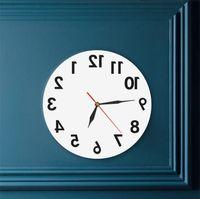 Обратное необычное число назад Современные декоративные часы Смотреть отличные часы для вашей стены 2180 V2