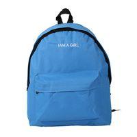 School Bags Girls Women Canvas Bag Travel Backpack Satchel Shoulder Rucksack Blue