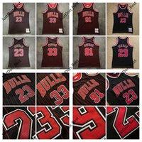 Hommes Scottie Pippen 33 Dennis Rodman 91 95 96 Jerseys Michael 23 MJ 9798 Mitchell Ness Hardwoods Jersey